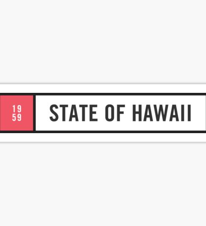 Hawaii - Minimalist #2 Sticker