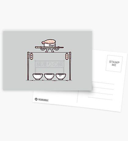 Sushi tightrope Greeting Card