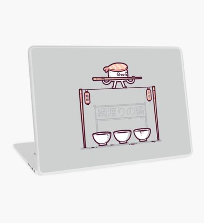 Sushi tightrope Laptop Skin