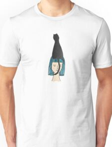 Girl with her cat Unisex T-Shirt