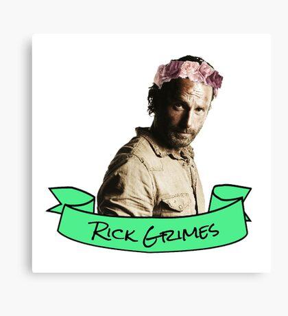 rick sticker Canvas Print