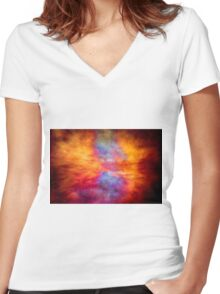 Galactic Storm Women's Fitted V-Neck T-Shirt