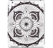 Mandala in Black & White iPad Case/Skin