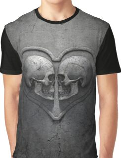 Gothic Skull Heart Graphic T-Shirt
