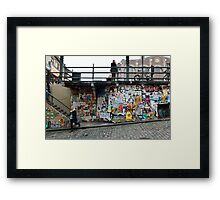 Post Alley Stairs Framed Print