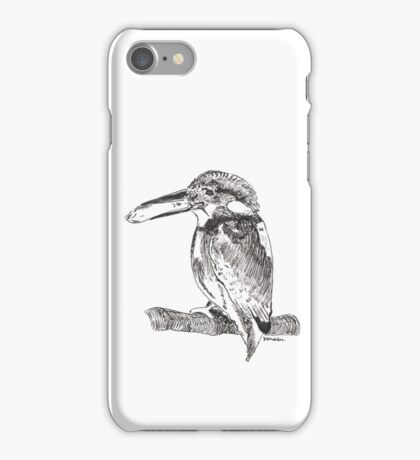 Pen and Ink Kingfisher iPhone Case/Skin