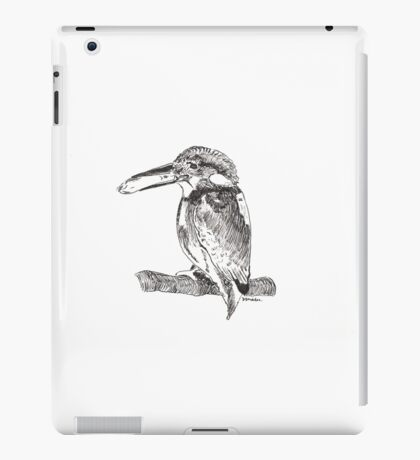 Pen and Ink Kingfisher iPad Case/Skin