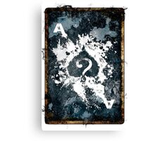 Secret Card Canvas Print