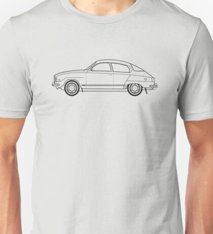Saab 96 Outline Drawing  Unisex T-Shirt