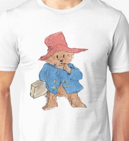 Paddington Bear Sketch (colour) Unisex T-Shirt