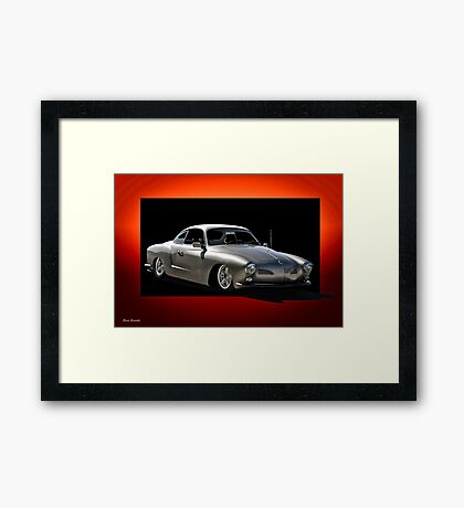 Karman Ghia Drifter 'A little quickness' Framed Print