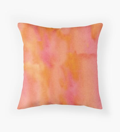 Oranje joy Throw Pillow