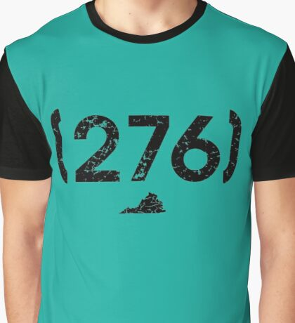 Area Code 276 Virginia Graphic T-Shirt