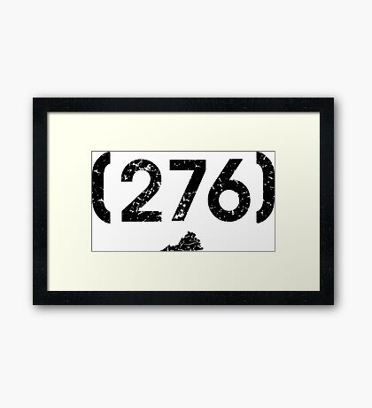 Area Code 276 Virginia Framed Print