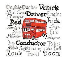 Double Decker Bus Design Photographic Print