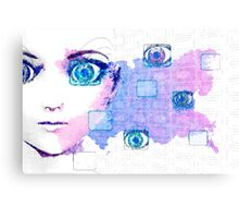 Painted beauty technology background Canvas Print