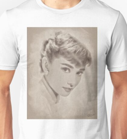 Audrey Hepburn, Vintage Hollywood Actress Unisex T-Shirt