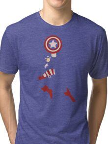 Captain America - Cutout Tri-blend T-Shirt