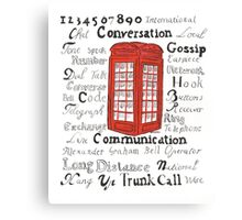Telephone Box Design Canvas Print