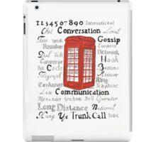 Telephone Box Design iPad Case/Skin