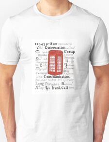 Telephone Box Design Unisex T-Shirt
