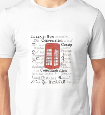 Telephone Box Design Unisex T-Shirt