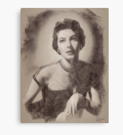 Ava Gardner, Vintage Hollywood Actress and Pinup Canvas Print