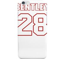 NFL Player Bill Bentley twentyeight 28 iPhone Case/Skin