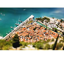 Aerial View from Mountain on Kotor Bay Photographic Print