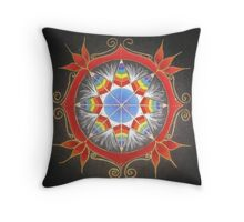 Troubled Earth ~ Tribal Mandala Throw Pillow