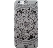 The Scribe ~ Black and White Mandala iPhone Case/Skin