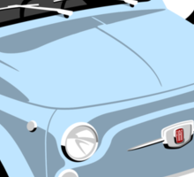Classic Fiat 500 light blue Sticker
