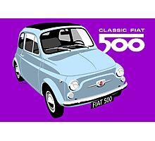 Classic Fiat 500 light blue Photographic Print