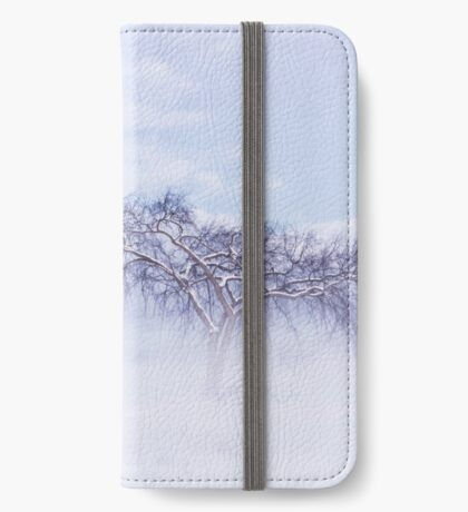 Foggy, frosty, lonely tree iPhone Wallet/Case/Skin