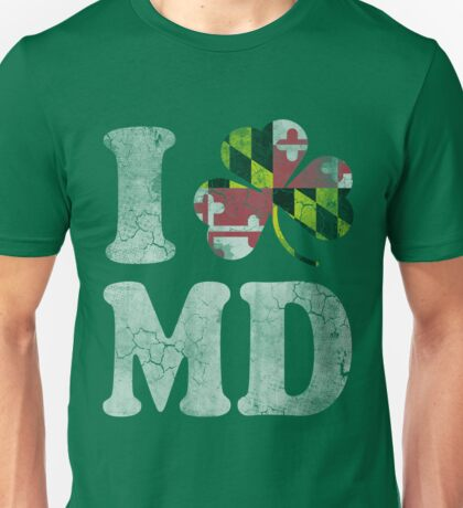 I Shamrock MD Maryland Unisex T-Shirt