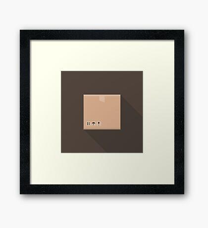 Box flat Framed Print