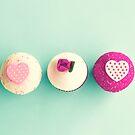 Three sweet cupcakes by Caroline Mint