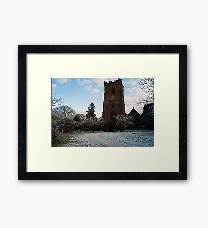 St Edburga church, Leigh, Worcestershire Framed Print