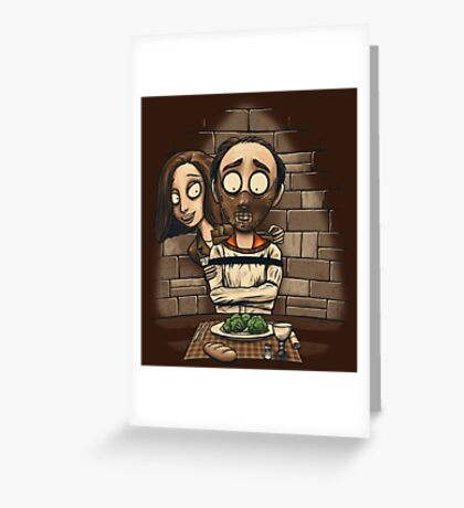 The Silence of the Vegetables Greeting Card