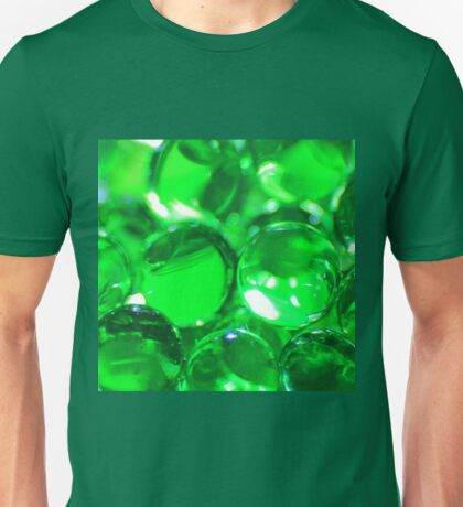 Emerald Green Background - Balls of Colorful Beauty Unisex T-Shirt