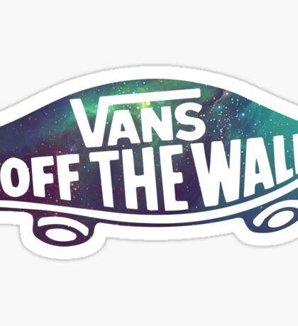 "Vans ""off the wall"" - Galaxy Sticker"
