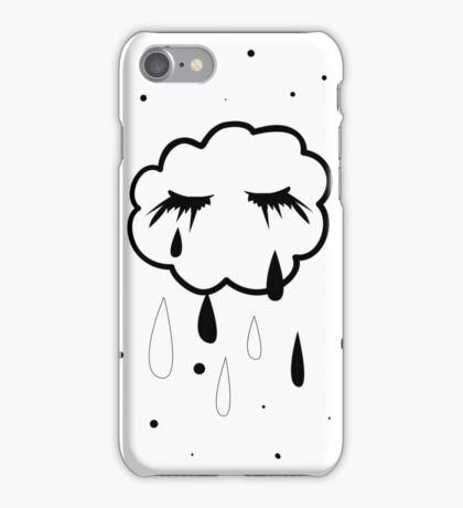 Crying cloud iPhone Case/Skin