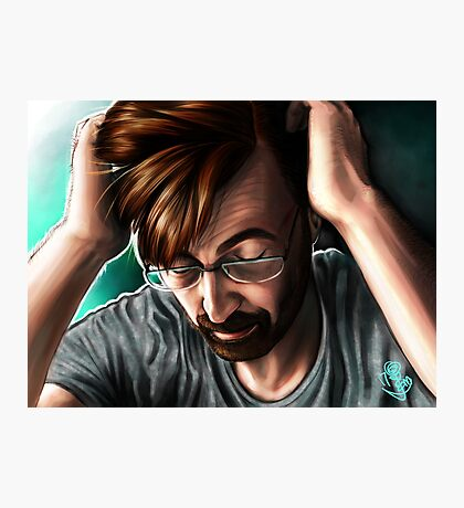 """""""People are Unknowable"""" Alec Hardy Broadchurch David Tennant Digital Painting Photographic Print"""
