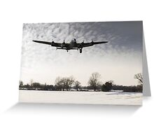 Nearly home - Lancaster limps back Greeting Card