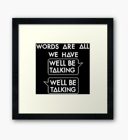 Talking (white) Framed Print