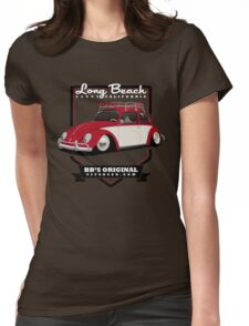 Long Beach - Red Womens Fitted T-Shirt