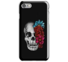 Skull with flowers iPhone Case/Skin