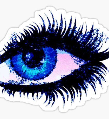 Digital watercolor female eye Sticker