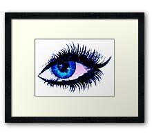 Digital watercolor female eye Framed Print