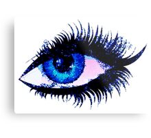 Digital watercolor female eye Metal Print